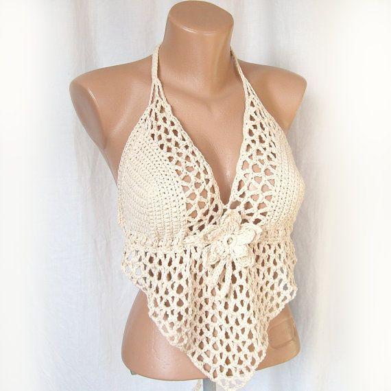 Encantador | trajes de baño crochet | Pinterest | Tejido, Baño y Blusas