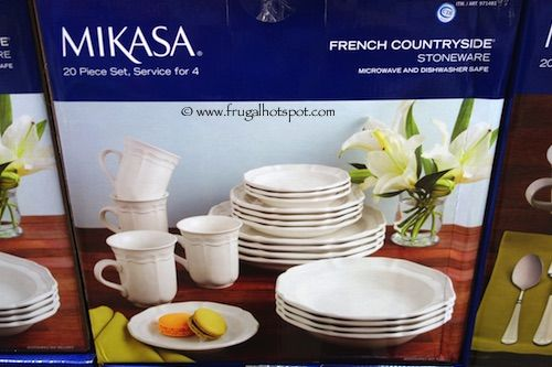 Mikasa French Countryside Stoneware 20 Piece Dinnerware Set Costco & Mikasa French Countryside Stoneware 20 Piece Dinnerware Set Costco ...