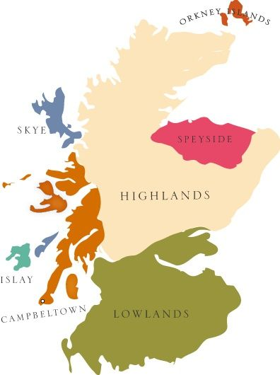 Scotland Map. Simple. Highlander or a Lowlander..or maybe