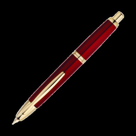 Stylo exceptionnel, le corps du Capless abrite un mécanisme d'une rare précision qui permet à sa plume 18 carats de se rétracter et de s'abriter à l'intérieur du stylo. Son corps est en acier laqué rouge, l'agrafe et les anneaux dorés. Le Capless est disponible en 3 tailles de plume: fine, moyenne et large. Une plume extra fine est également disponible en option.