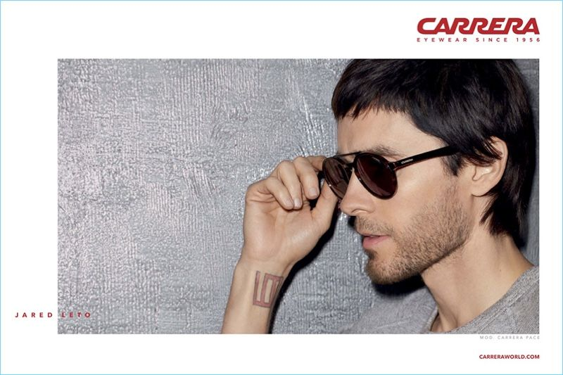 57a22863f27 Singer Jared Leto stars in Carrera s 2017 eyewear campaign.