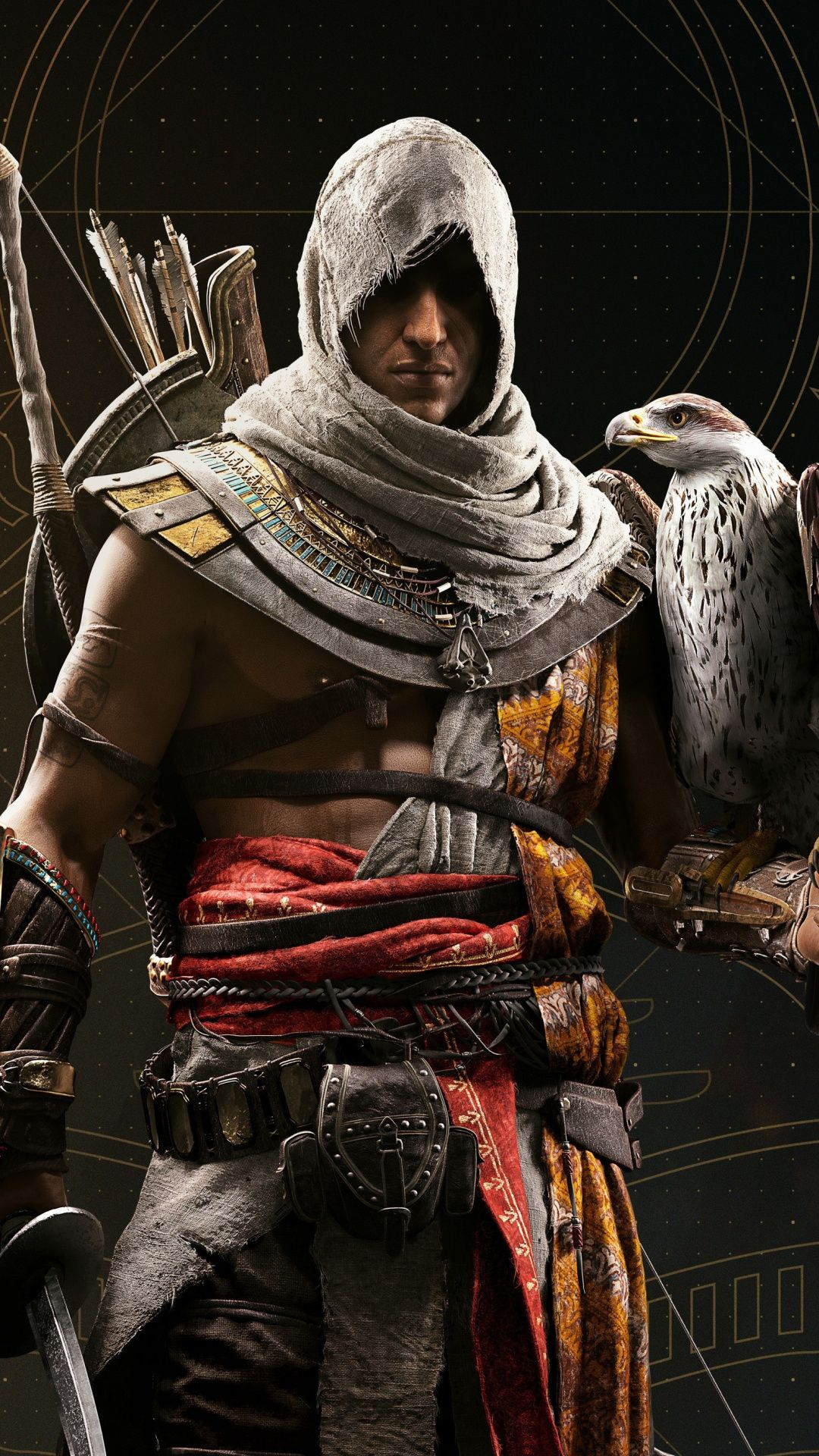 2018 Game Video Game Warrior With Falcon Assassin S Creed
