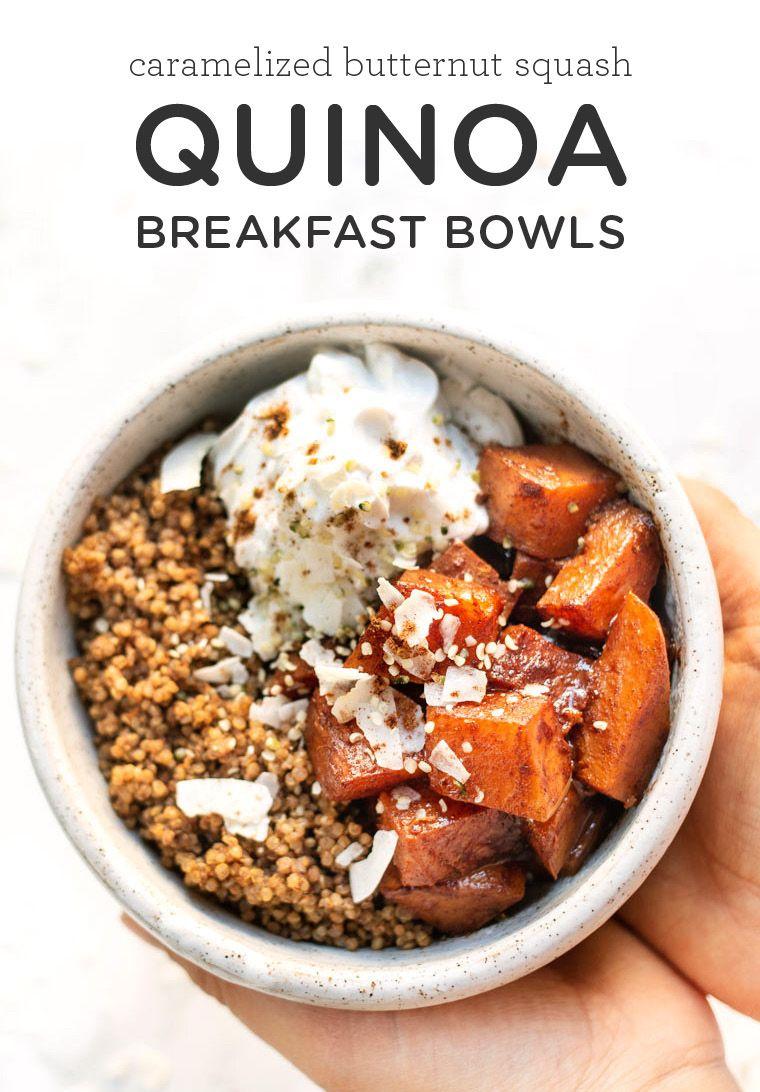 Caramelized Butternut Squash Quinoa Breakfast Bowls Simply Quinoa Recipe Breakfast Bowls Quinoa Breakfast Bowl Quinoa Breakfast