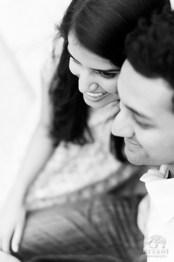 Black And White Photo Of Indian Couple Smiling During -4206