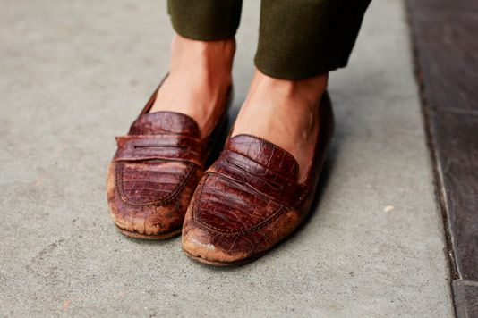 beat up loafers