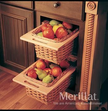 Merillat Masterpiece® Base Open Basket Cabinet - Merillat