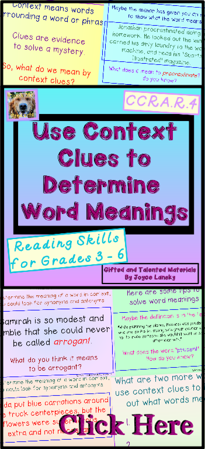 Teach Students How To Determine Word Meanings In Context Through This Standard Based Power Point From Catch My Context Clues Context Clues Worksheets Word Work [ 1536 x 702 Pixel ]