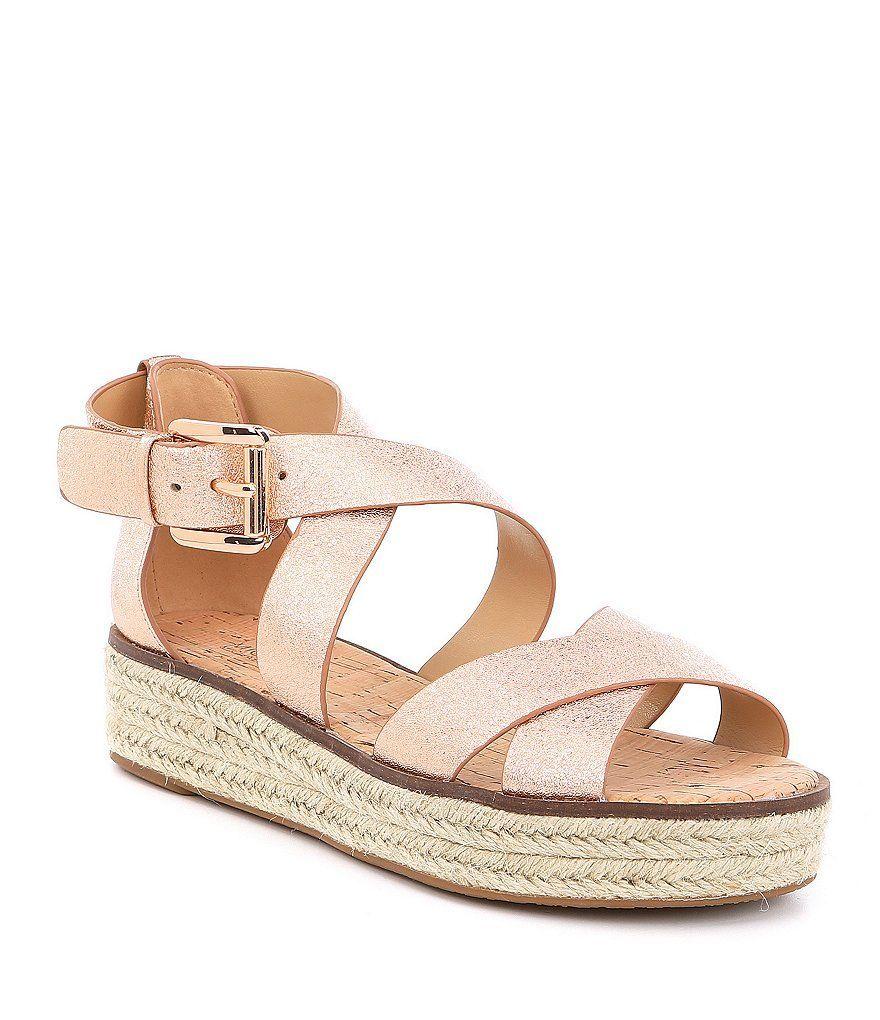 1cc4a2b1aaad MICHAEL Michael Kors Darby Metallic Leather Sandals