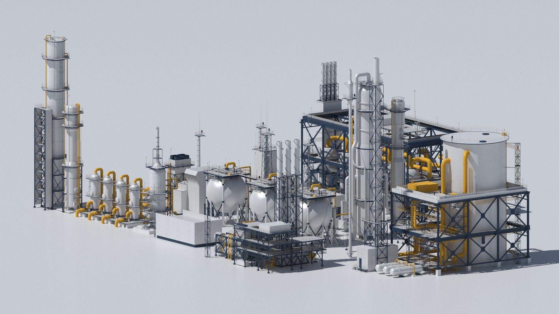3d factory kitbash | kitbash in 2019 | Industrial