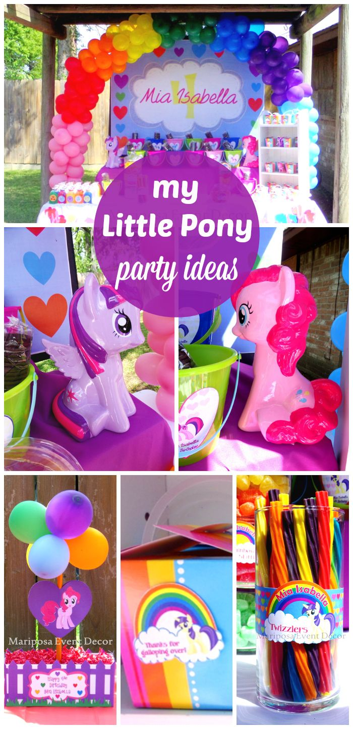 Check Out This Awesome My Little Pony Girl Birthday Party There Are Statues Balloons Candy And More Fun Ideas See At CatchMyParty