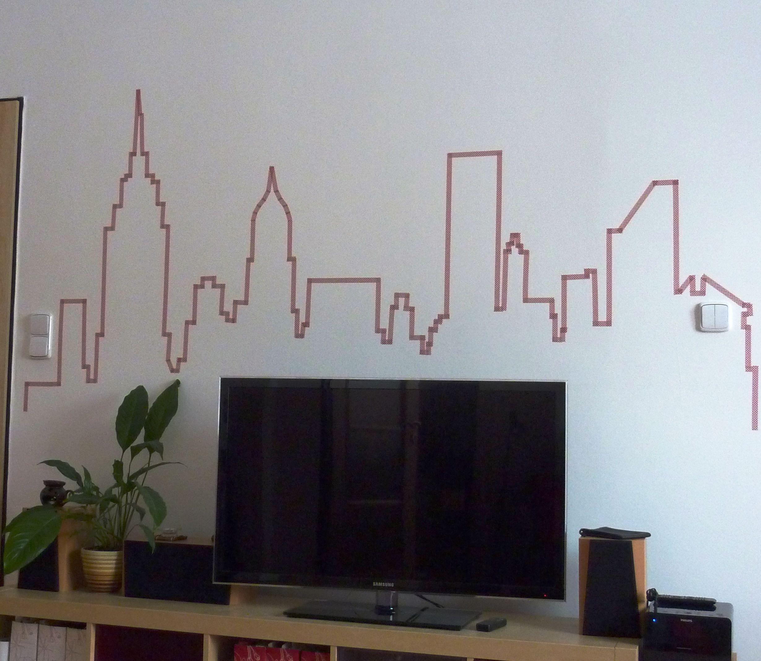 NYC skyline | Habitación tumblr | Pinterest | Pinturas en paredes ...