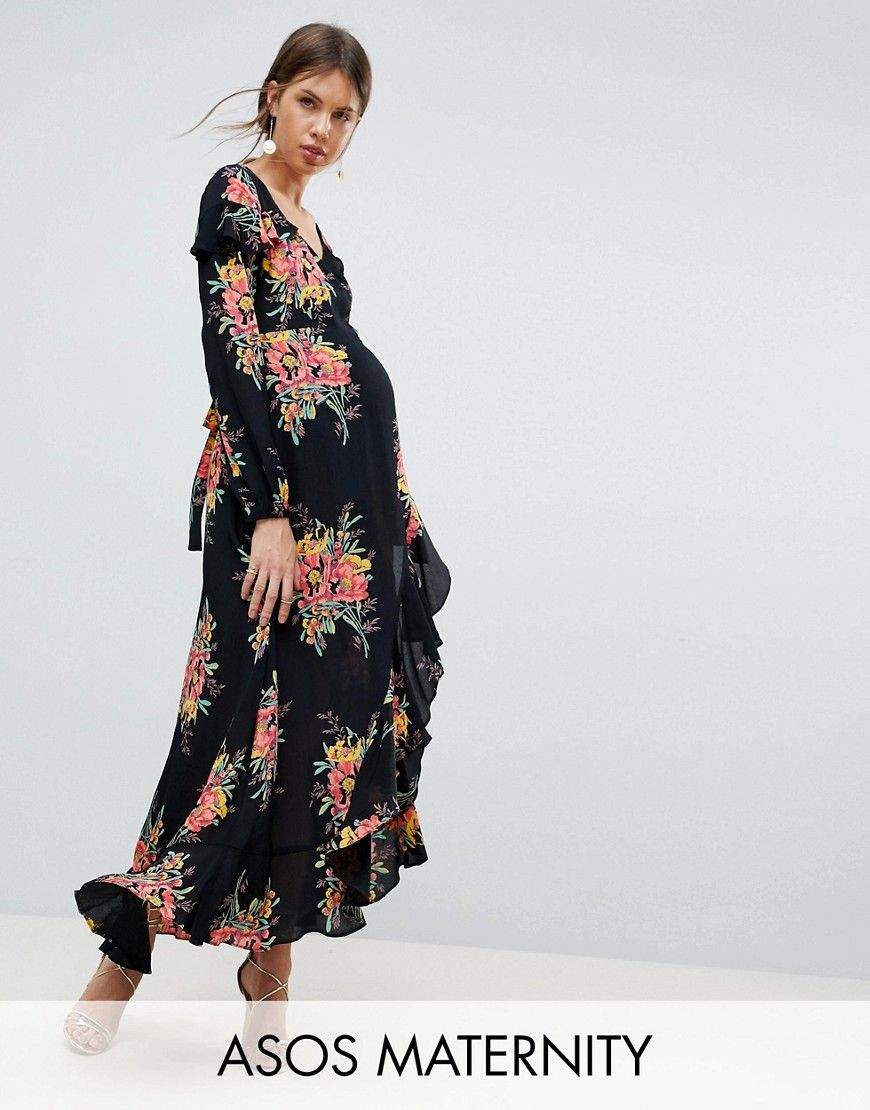 3a7014809ccf3 Maternity Long Sleeve Floral Maxi Dress | Products | Floral maxi ...