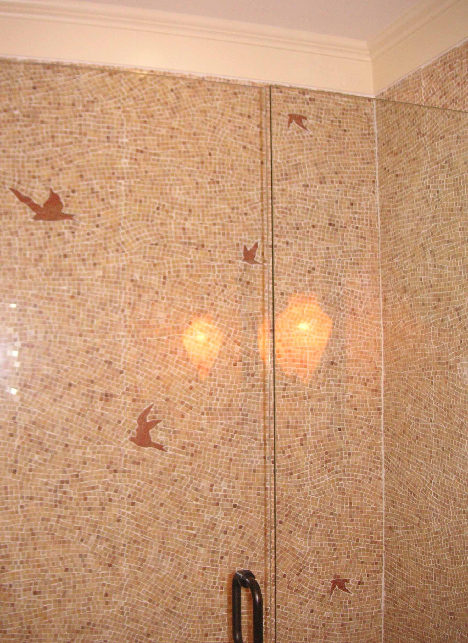Birds are interesting. Like the tile pattern. Color? Meh ...