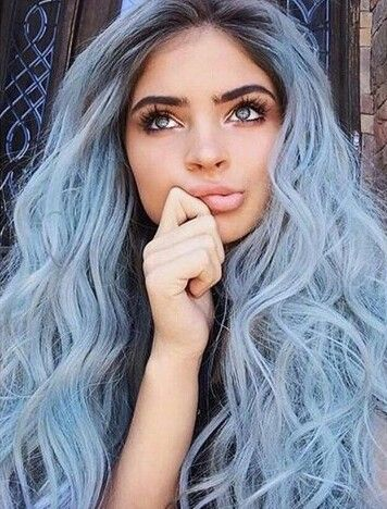Hair Girl And Blue Image Hair Styles Hair Color Pastel Blue Hair