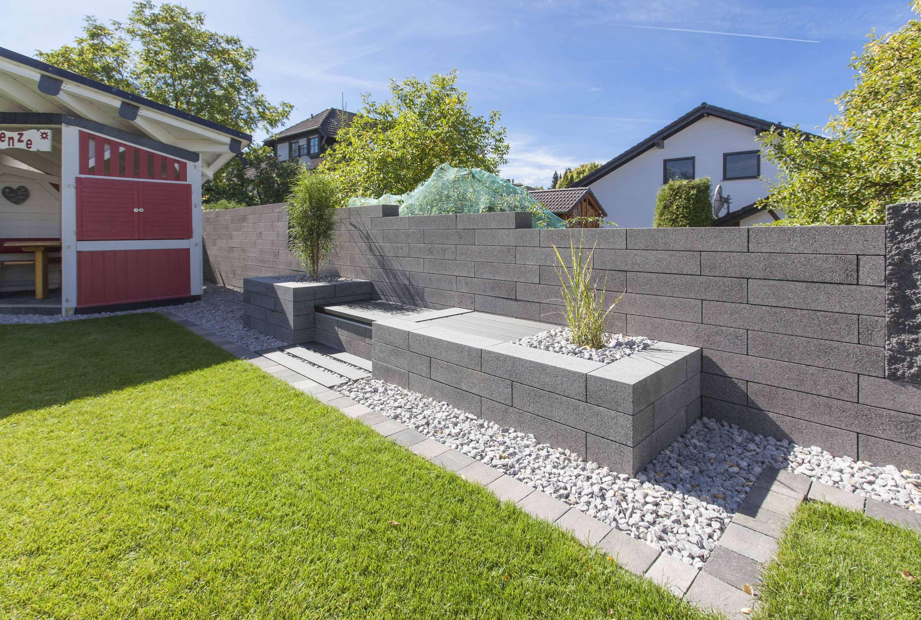 15 Mauer Als Sichtschutz Sichtschutz Garten Steinmauer Garten Sichtschutzmauer