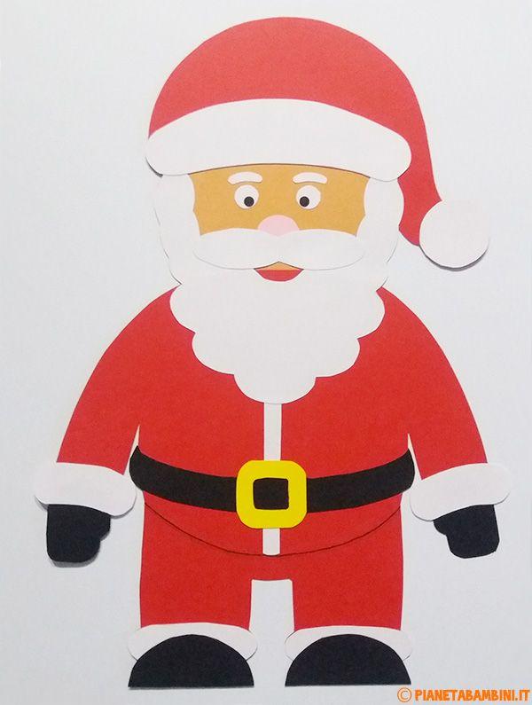 Lavoretti Di Cartoncino Per Natale.Lavoretto Babbo Natale Di Cartoncino Babbo Natale Natale Bambini Di Natale