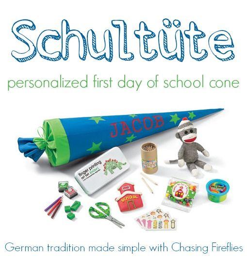 Back to school schult\u00fcte kinder cone