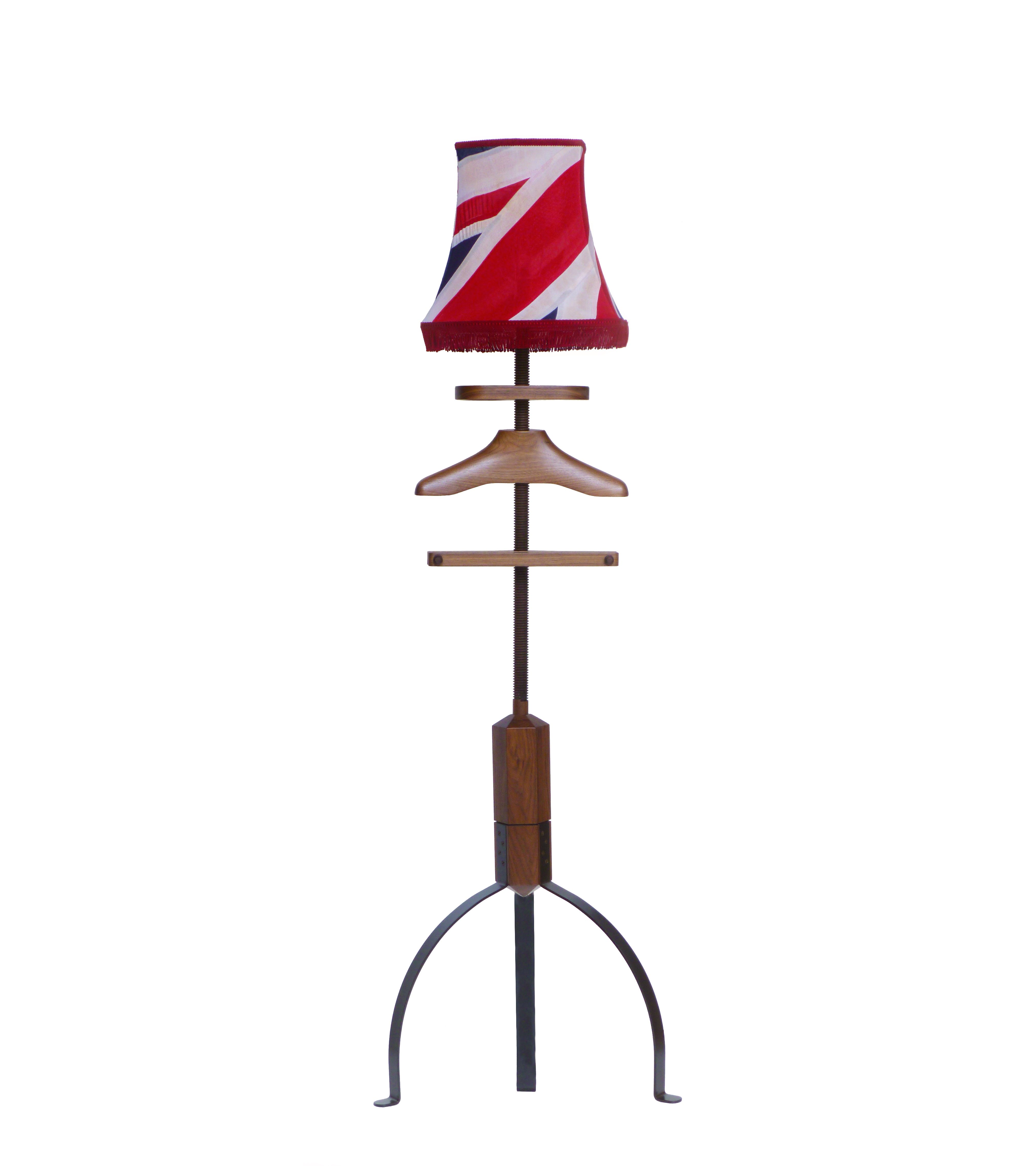 Light Jack Stand: Gentleman's Valet Company, Walnut Standard Lamp Valet