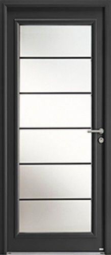 Mod le l ry mixte porte d 39 entr e mixte alu bois for Porte entree appartement isolation phonique
