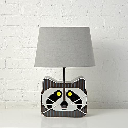 Charley Harper Raccoon Table Lamp at The Land of Nod.