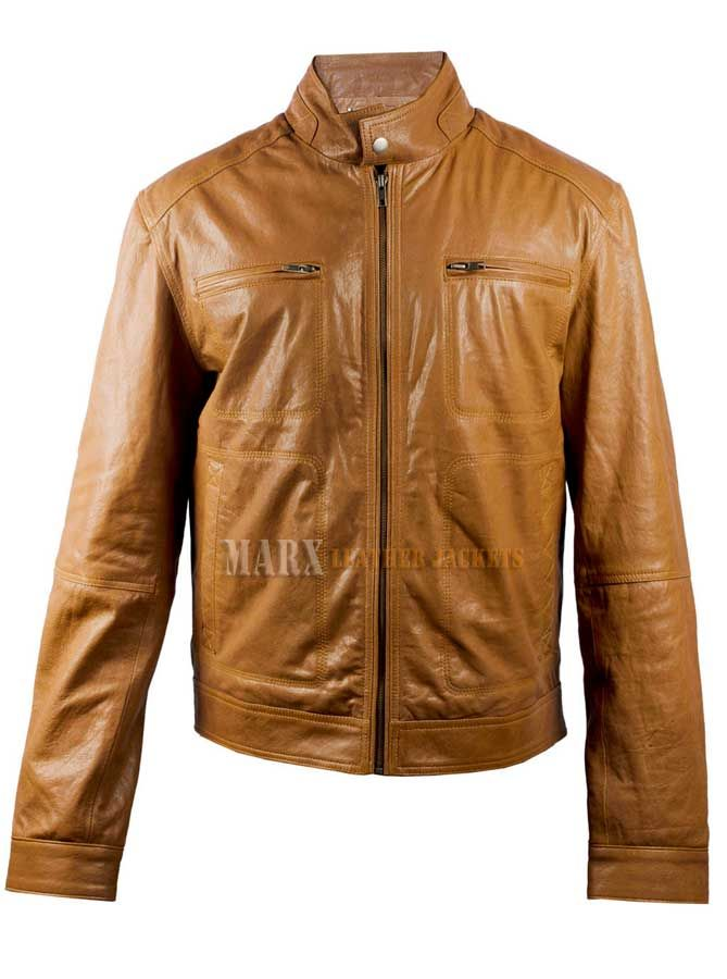 Marx Men Tan Biker Leather Jacket | Projects to Try | Pinterest ...