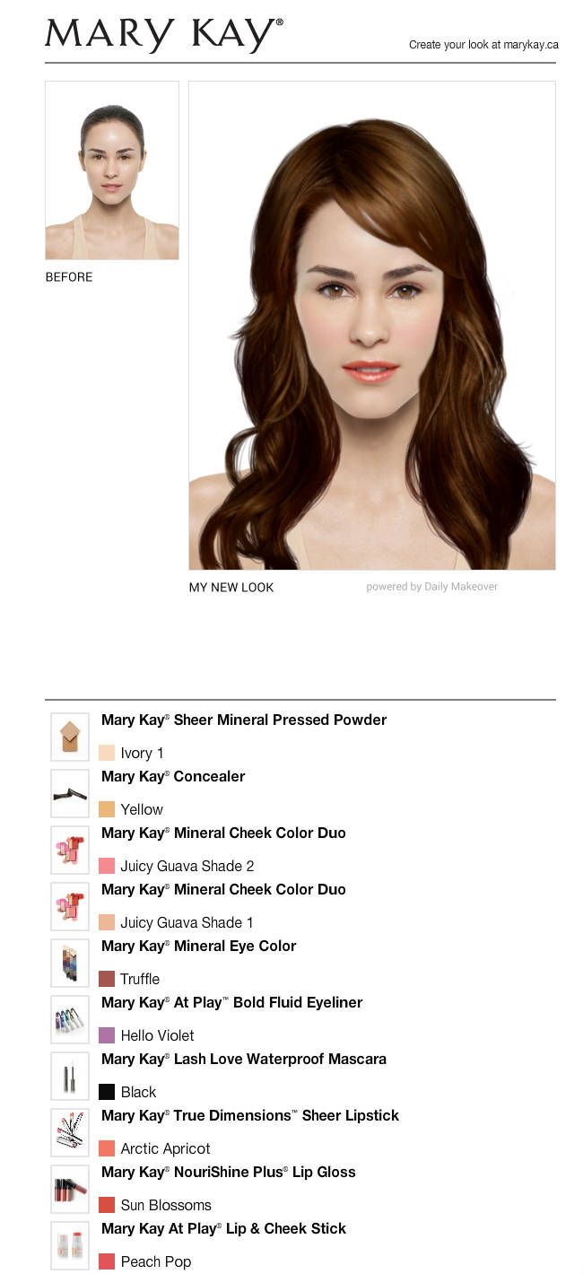 I Just Got A Great New Look Using The Free Mary Kay Virtual