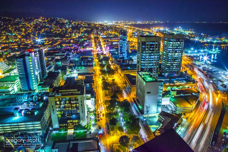 Caribbean Led Lighting Inc Barbados Port Of Spain, Trinidad City Lights. Gregory Scott