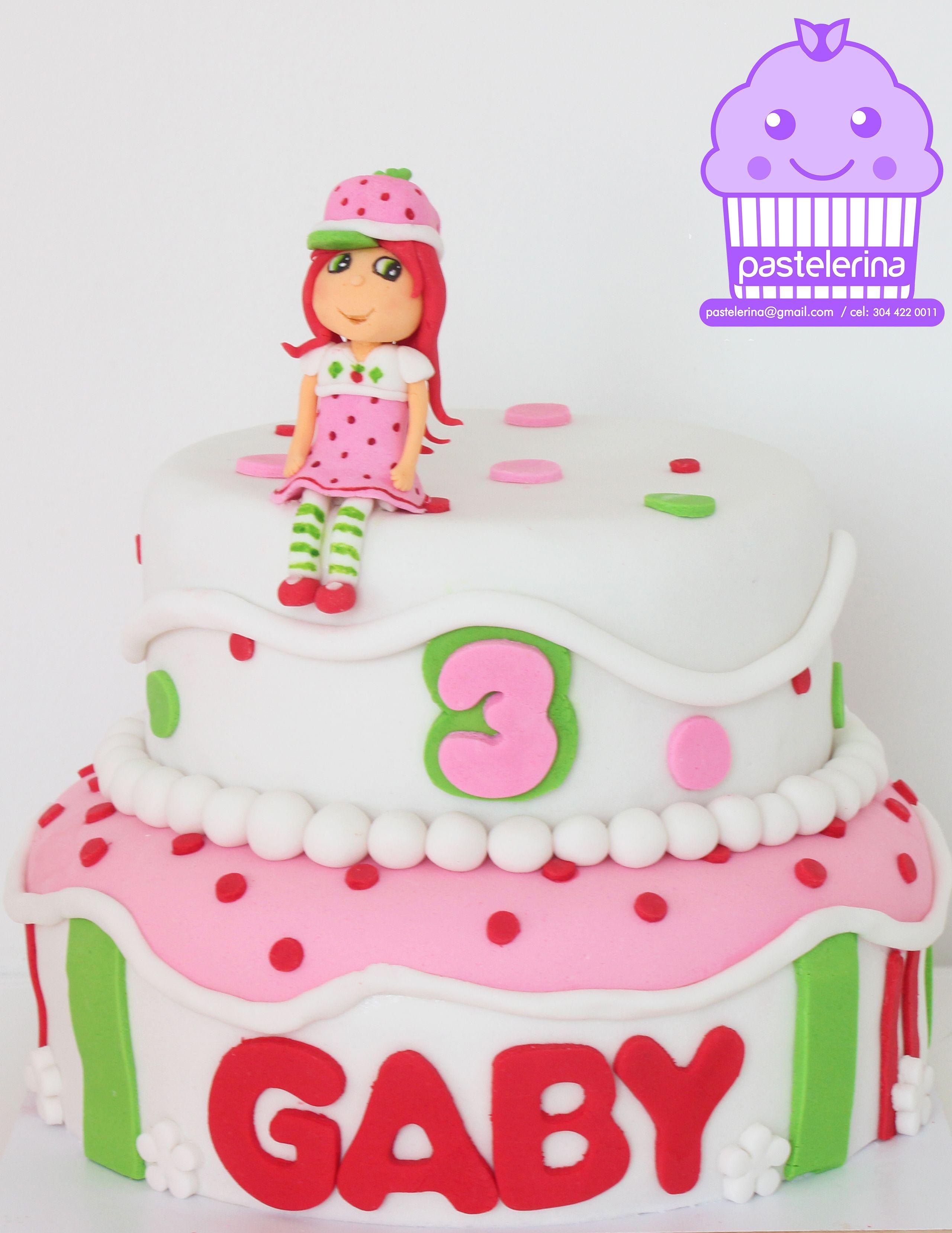 Strawberry shortcake cake Torta Rosita Fresita