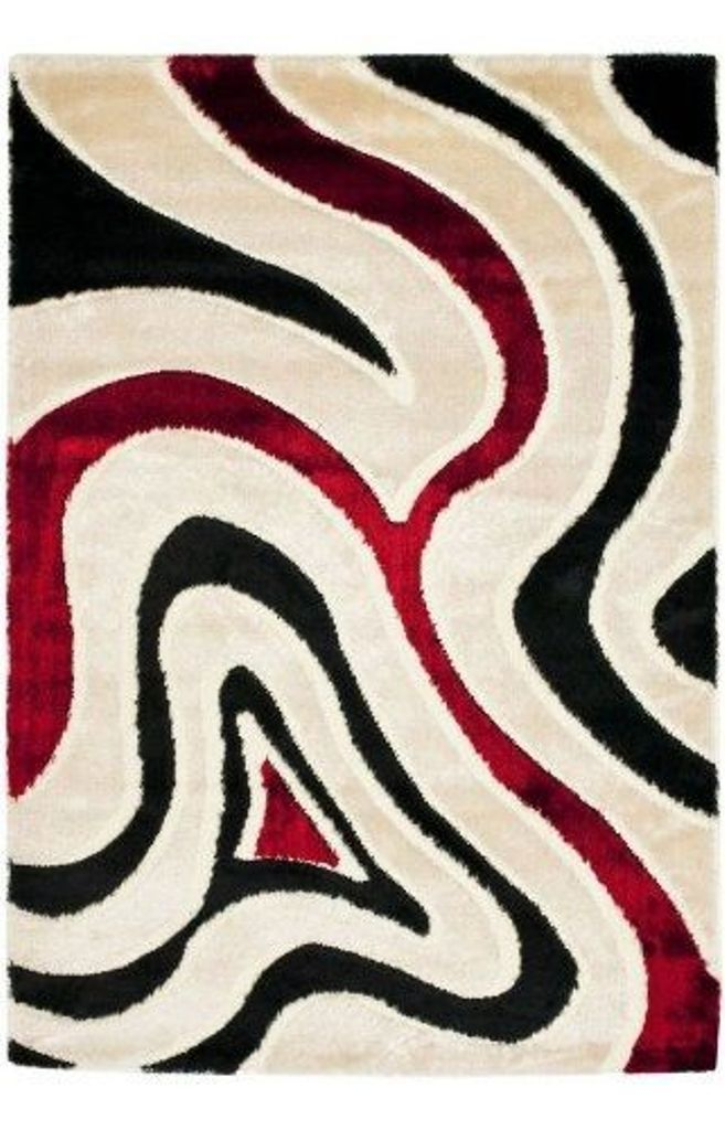 Beautiful Cheap Red Black And White Area Rugs