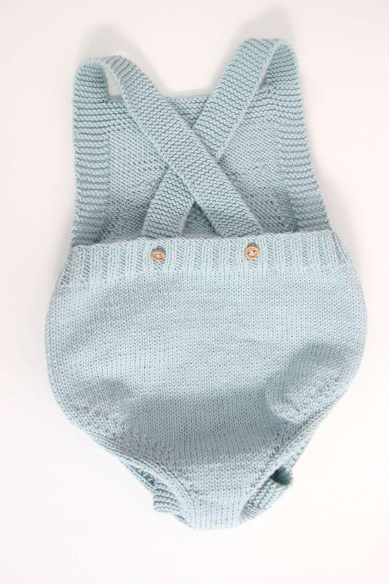 diy patrones gratis pelele peto tejido dos agujas 05 | Bebe ...