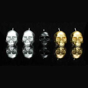 Skull Set Of 5 Metallic