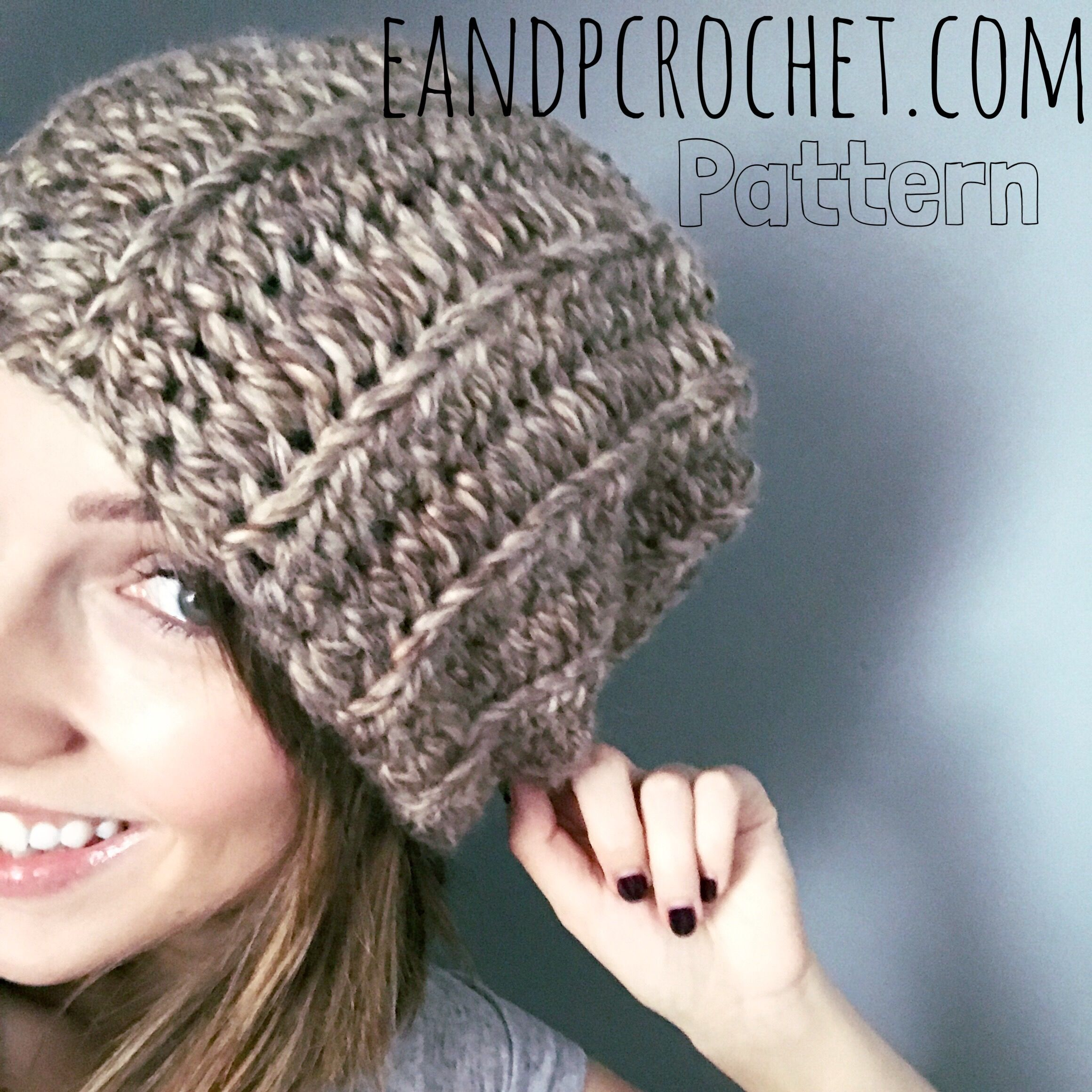 This basic slouchy beanie is the perfect hat using super bulky yarn. It s  super easy to adjust the length and size of the hat as needed. 447c61ca991