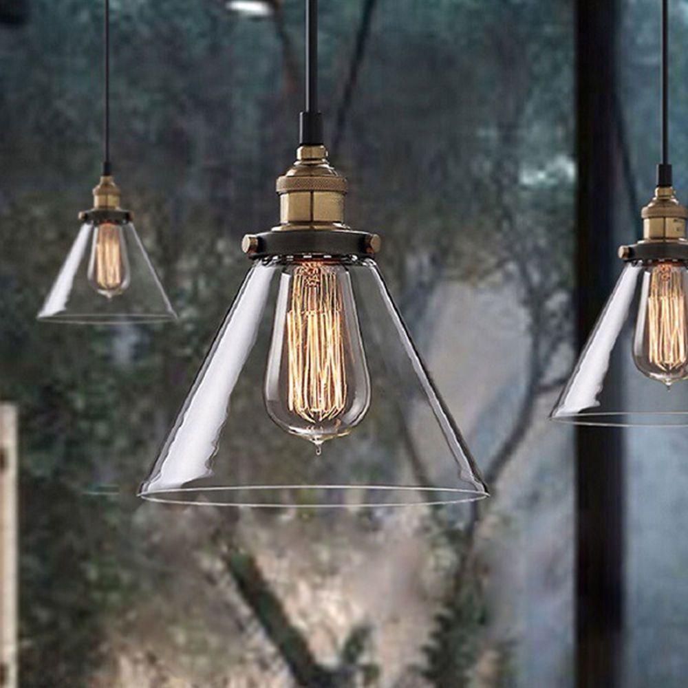 Vintage ceiling light chandelier pendant loft edison bulb glass vintage ceiling light chandelier pendant loft edison bulb glass lampshade bronze mozeypictures Image collections