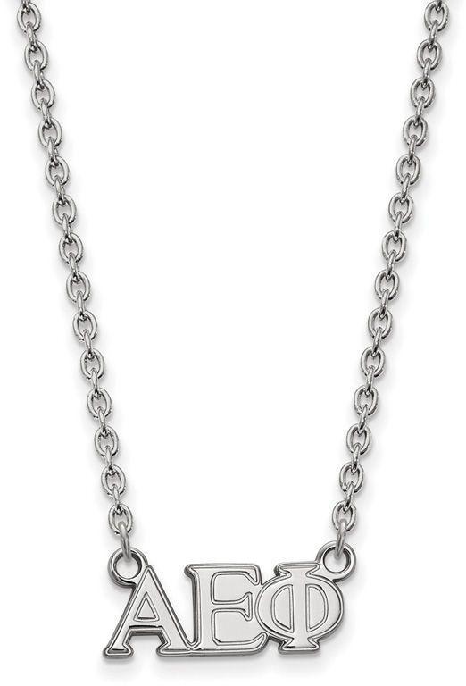 Zales Delta Phi Epsilon Medium Sorority Necklace in Sterling Silver e1R0Hqowh