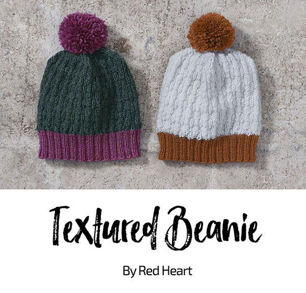 Textured Beanie free knit pattern in Cleckheaton Superfine ...