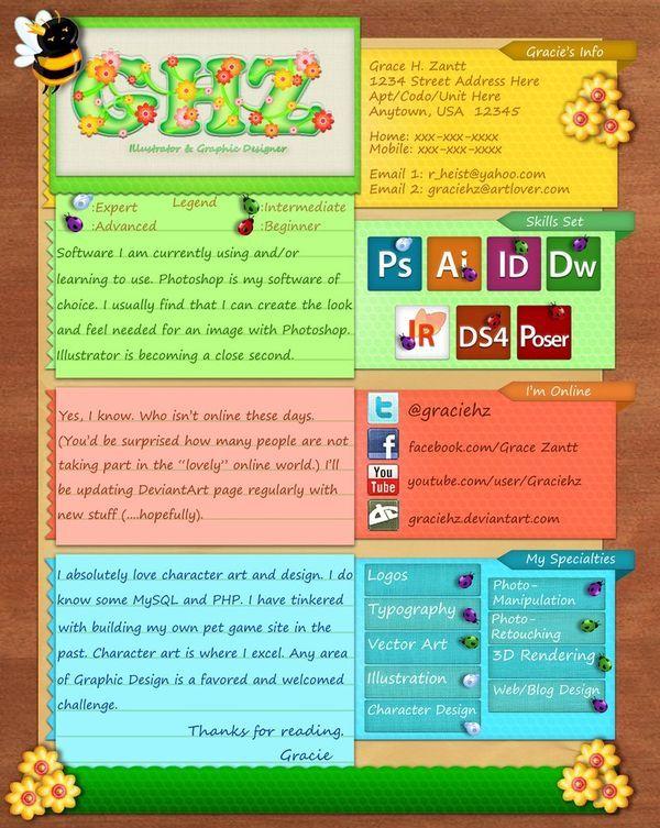 35 Brilliant Resume Designs - DzineBlog Work Pinterest - updating my resume