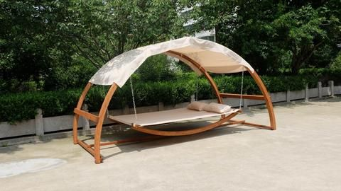 Porch Swing Bed Hammock Patio Furniture Hanging Canopy ...