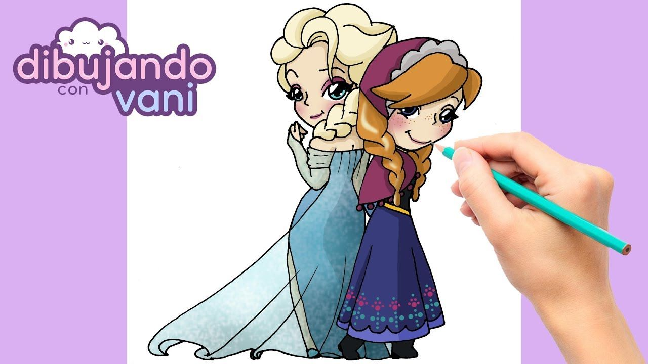 Como Dibujar A Elsa Y Anna De Frozen Kawaii Dibujos Imagenes Faciles A Dibujo Anna Frozen Dibujos Kawaii Kawaii