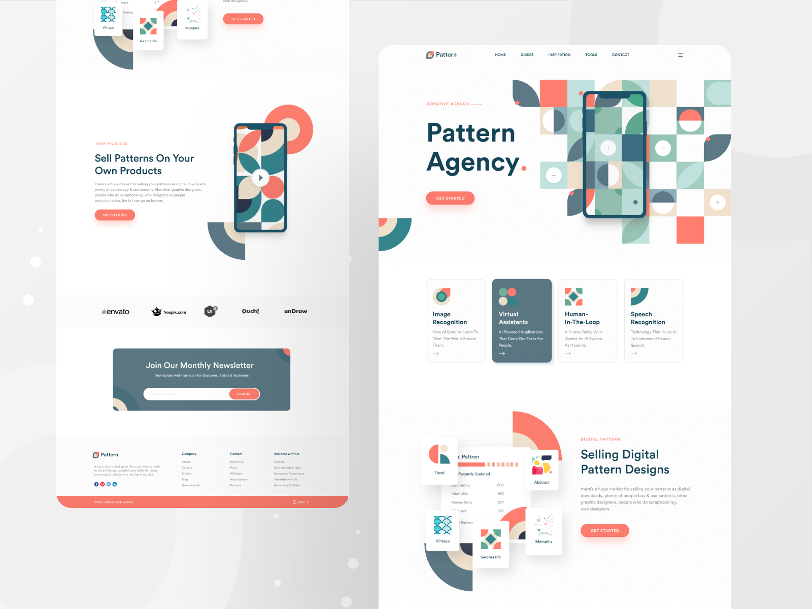 Pattern Agency Landing Page Best Landing Pages Web Inspiration