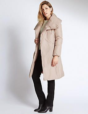 3c42bf6225a4 Quilted Duvet Coat from M&S, the picture does this no favours but with its  oversized collar and tie waist its a more srtylish duvet coat that's for  sure.