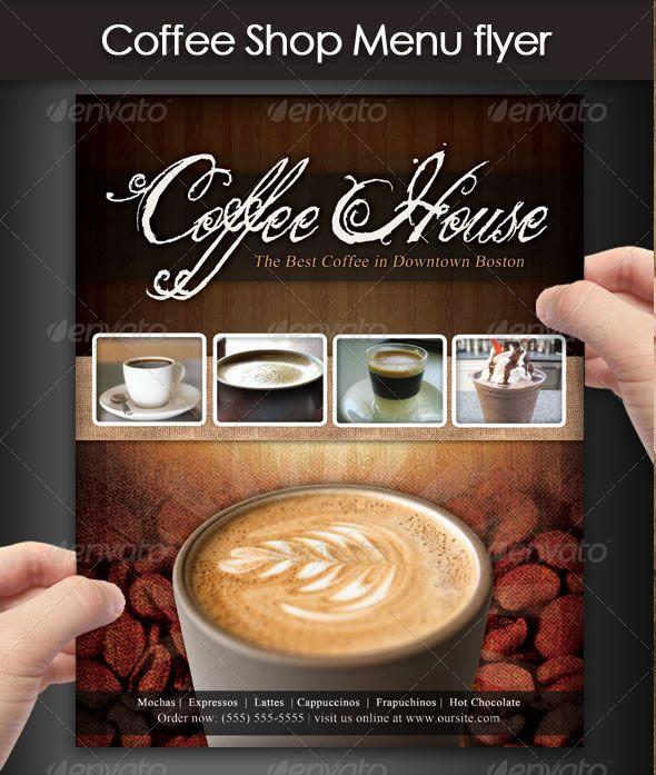 Coffee Shop Menu Flyer Coffee Coffee Shop Menu Menu