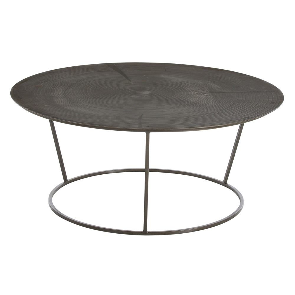 Round Coffee Tables Are The Perfect Choice If You Have Children Or A  Tendency To Run Into Corners. This Natural Iron Cocktail Table Features  Round Edges And ...
