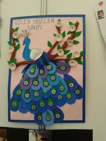 Peacock Bulletin Board Idea For Kids 2 Crafts And