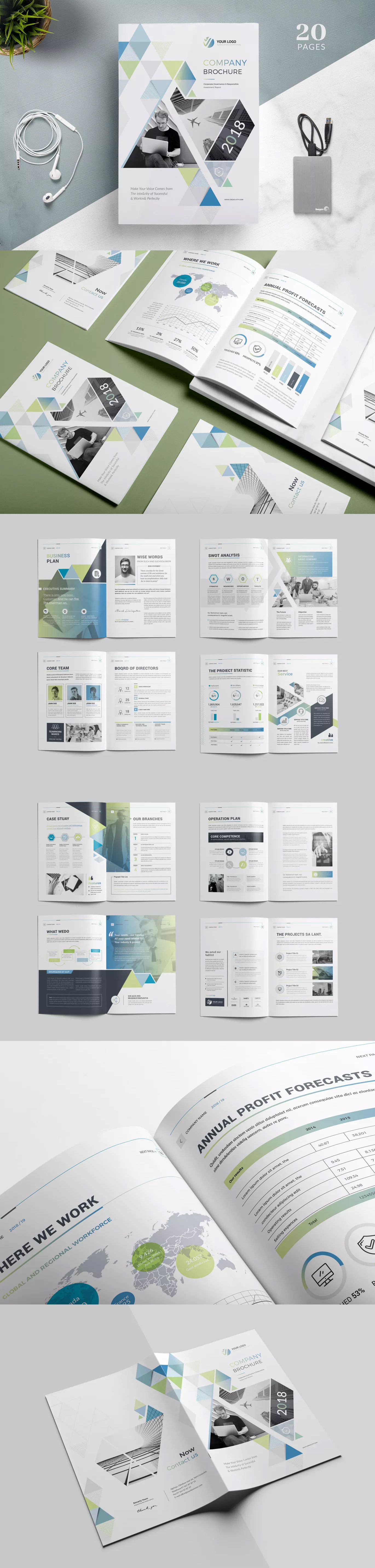 Company Brochure Template Indesign Indd 20 Pages Easy To