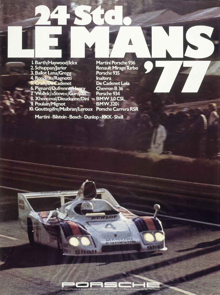 1977 racing poster