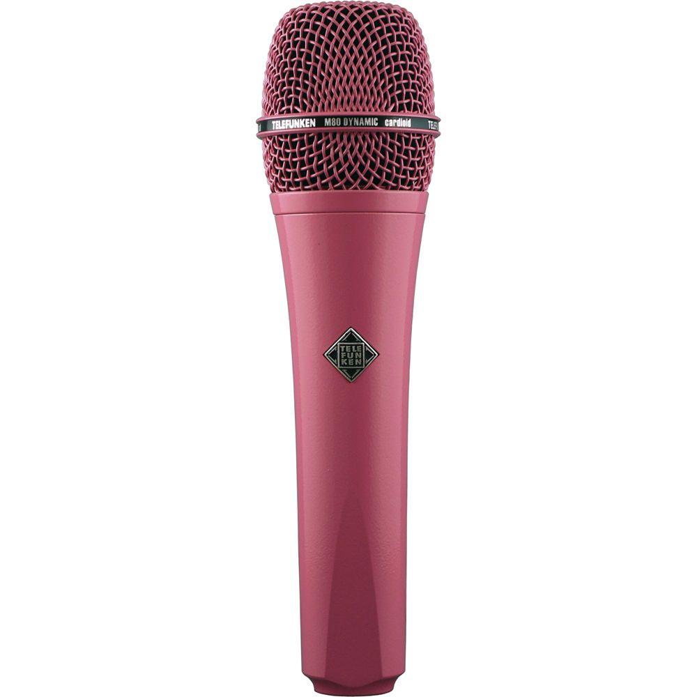 Telefunken M80 Custom Handheld Supercardioid Dynamic Microphone Pink Body Pink Grille Microphone Music Accessories Handheld