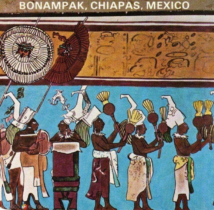 Pinturas Murales Mayas Bonampak Chiapas Maya En 2019 Murales