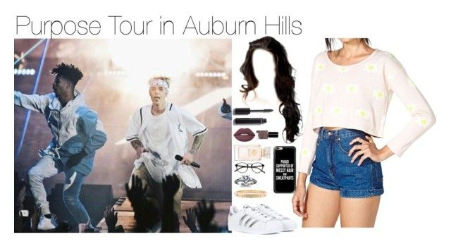 """Purpose Tour in Auburn Hills"" by myllenna-malik ❤ liked on Polyvore featuring Reverse, adidas, Chanel, Lime Crime, Bobbi Brown Cosmetics, Tory Burch, Casetify, bieber and JustinBieber"