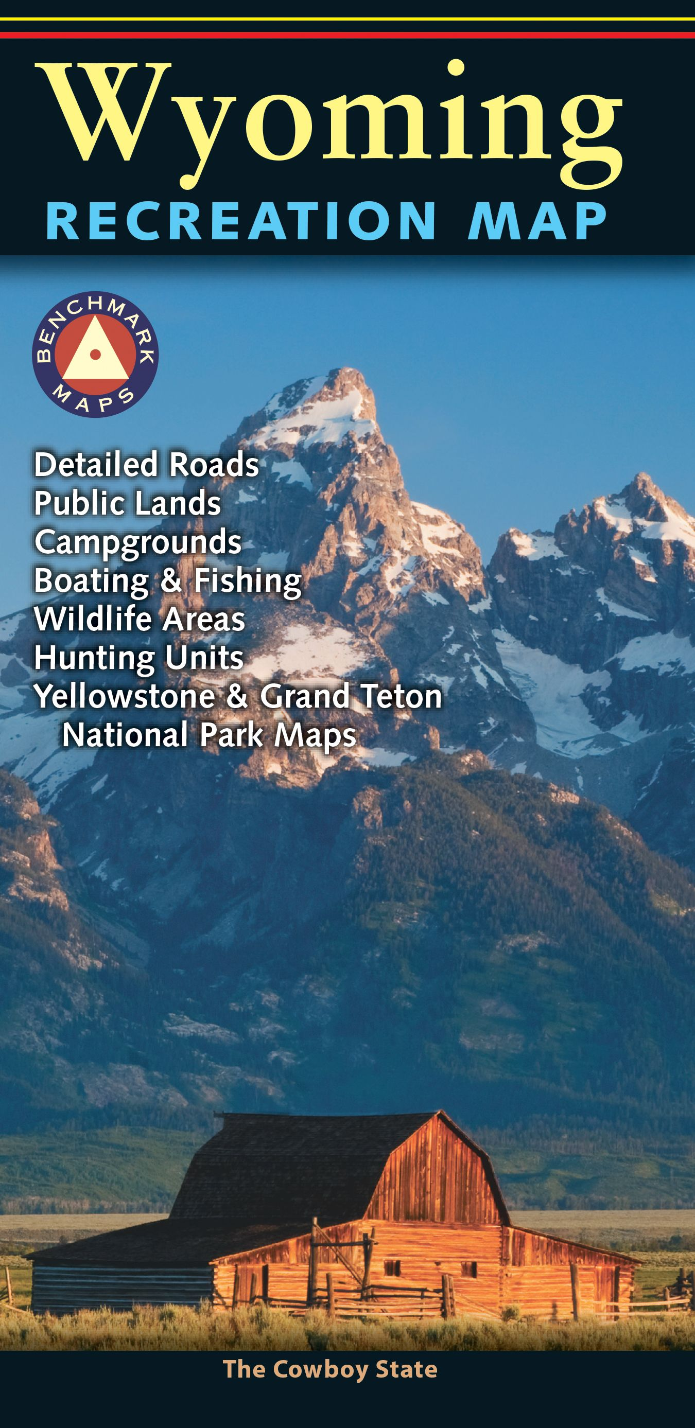 The Wyoming Recreation Map Is A Folded Map Derived From