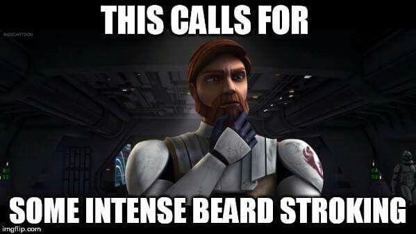 The Beard Stroking Is Essential Star Wars Jokes Star Wars Humor